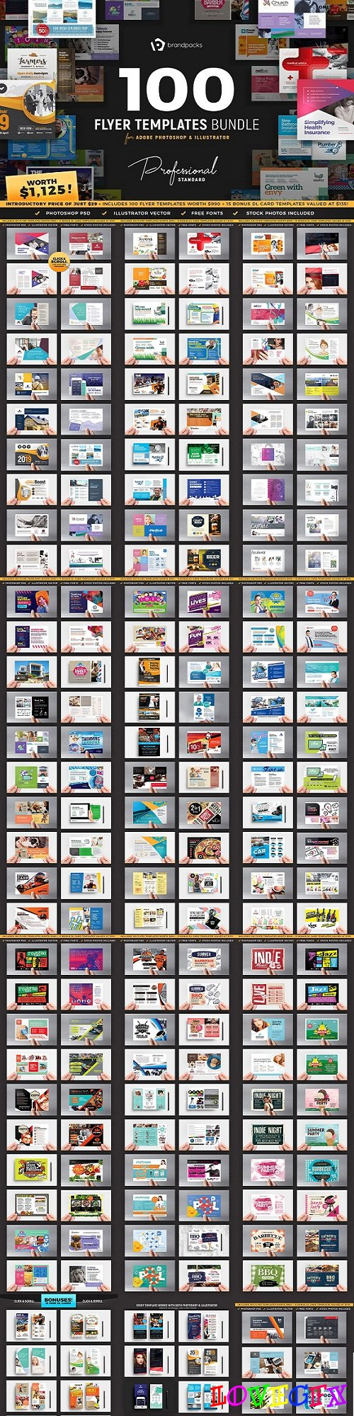 100+ Flyer Templates Bundle - 2819462