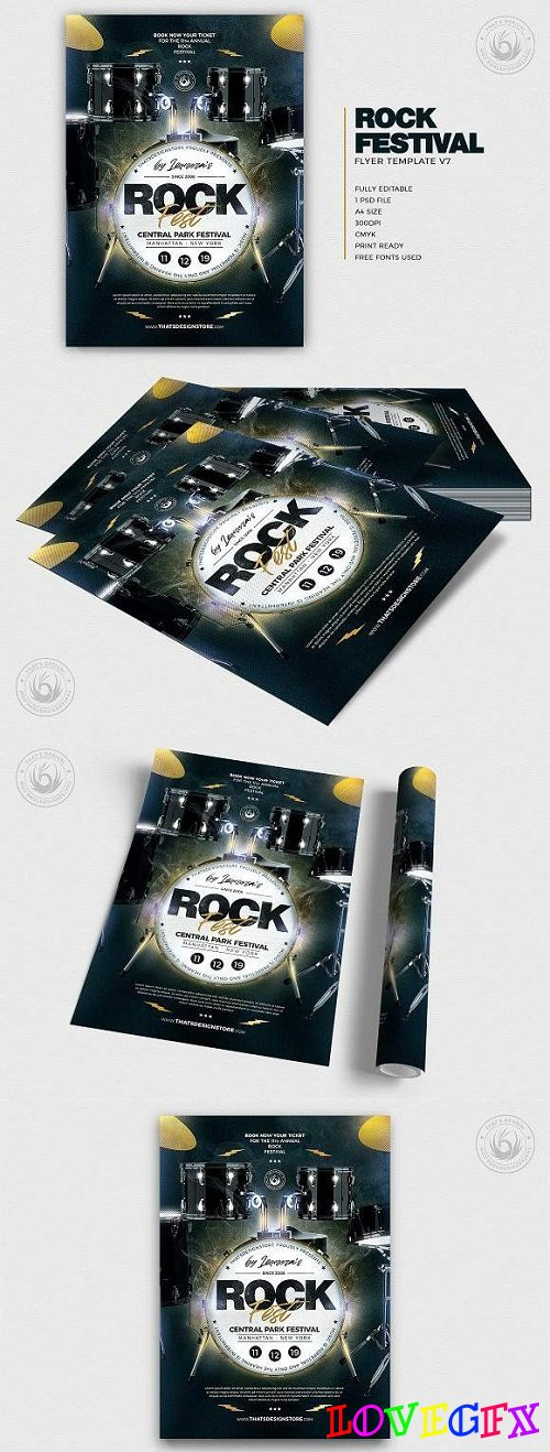 Rock Festival Flyer Template V7 3290832