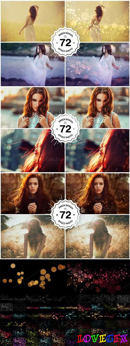 72 Bokeh Photoshop Overlays 452663