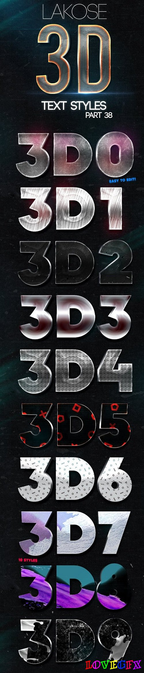 Lakose 3D Text Styles Part 38 - 22433484