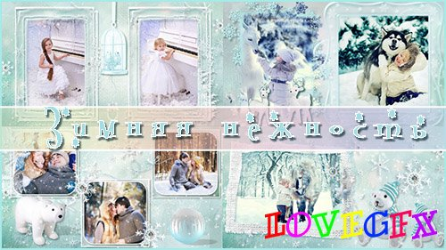 Winter tenderness - project ProShow Producer