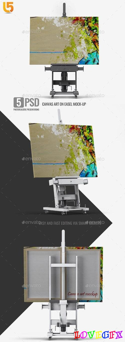 Canvas Art on Easel Mock-Up - 23224908