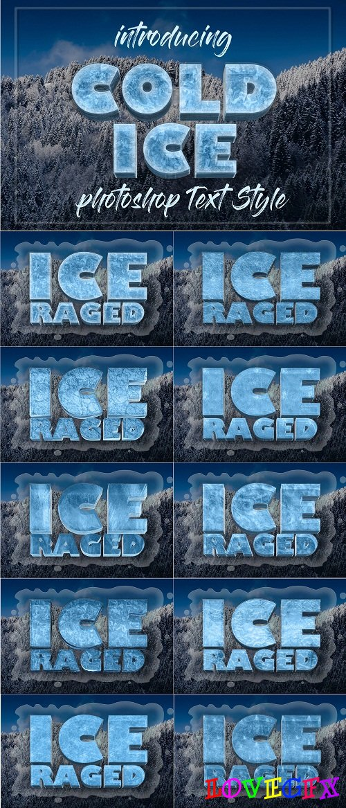 10 Frozen Photoshop Layer Style - 3430647