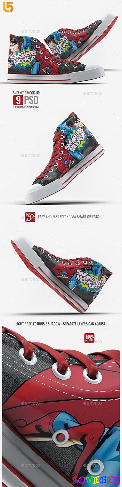 Sneakers Mock-Up v1 - 23225460