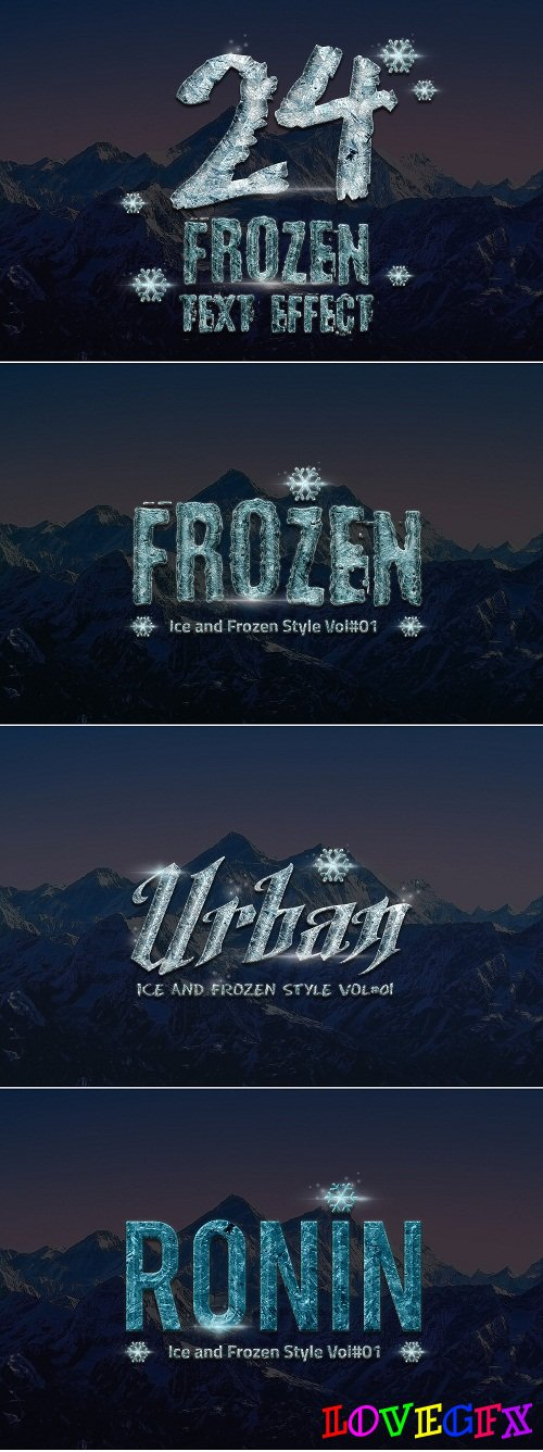 24 Frozen and Ice Text Effect 1118495