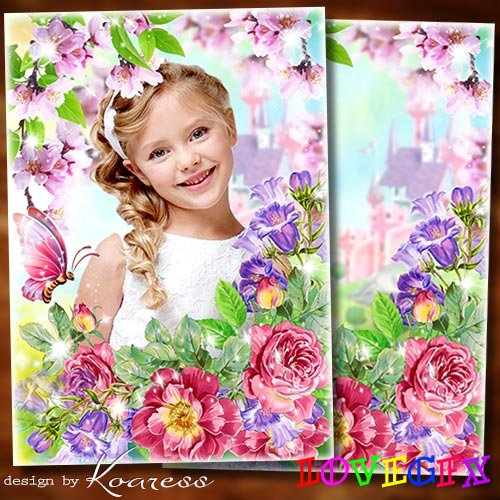 Photoframe for March 8 - I wish you on the day of spring mischievous mood