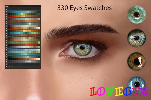 Eyes Ai and PS Swatches for DigitalPainting - 2909444 - 1573613