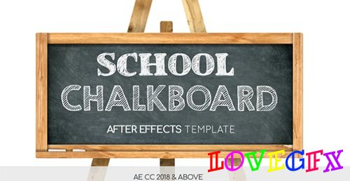 School Chalkboard 219503 - After Effects Templates