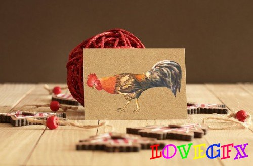 Watercolor Roosters - 1064698
