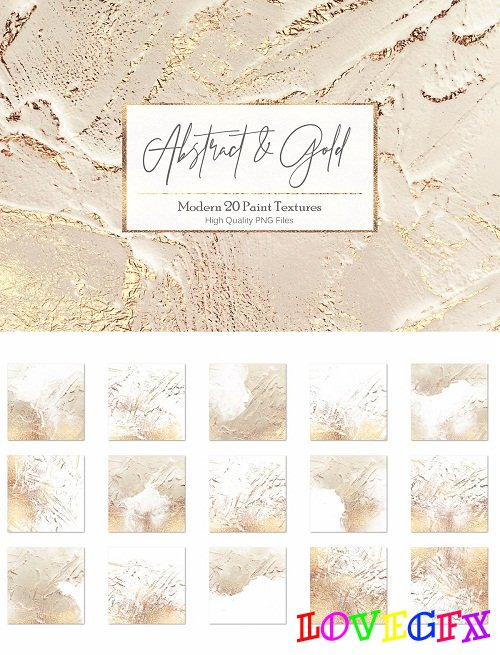 Abstract Gold Paint Backgrounds - 2692494