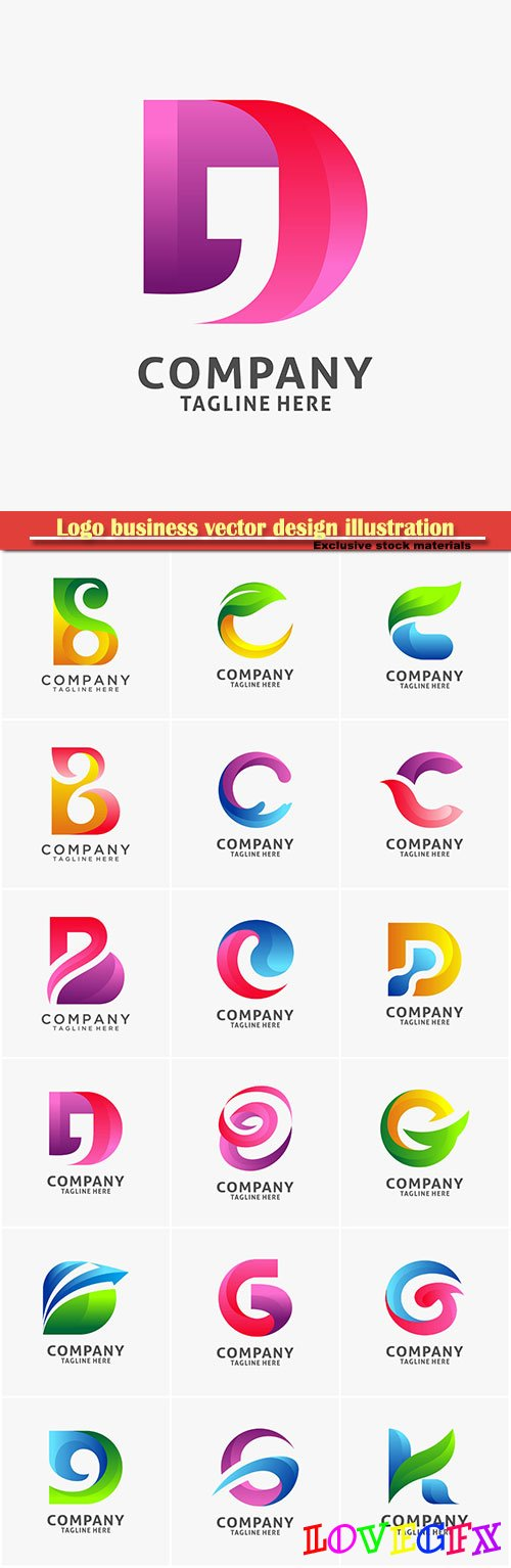 Logo letter vector design, letter icon # 32
