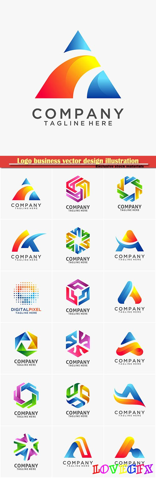 Logo business vector design illustration # 112