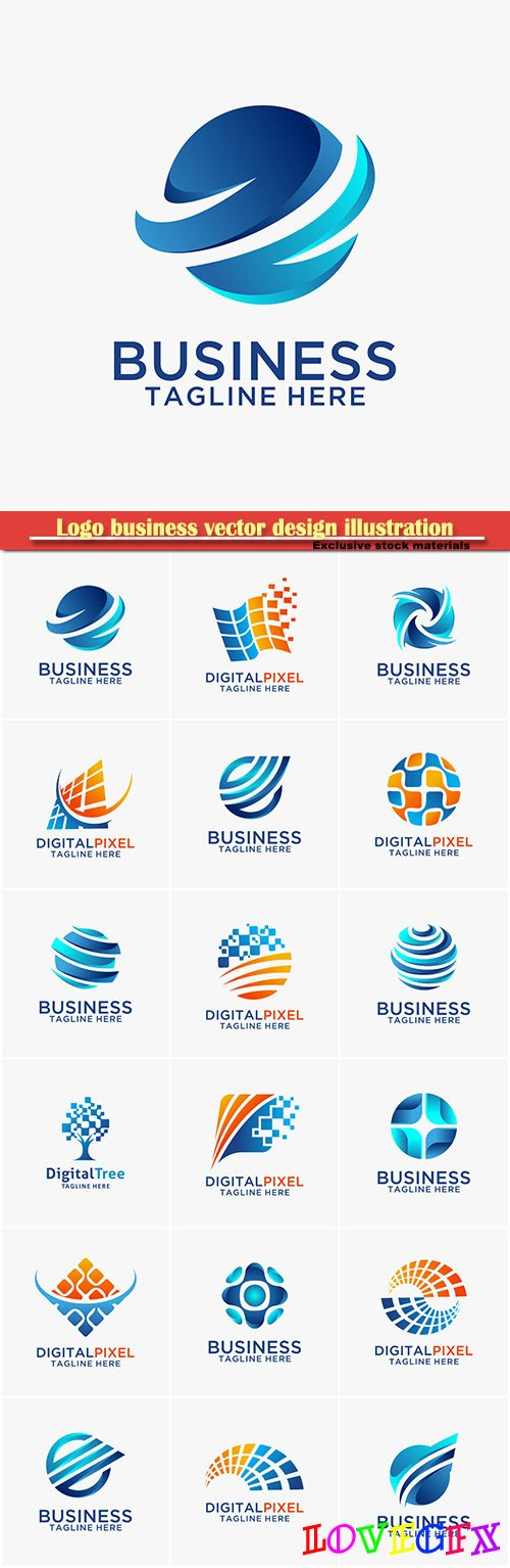 Logo business vector design illustration # 110