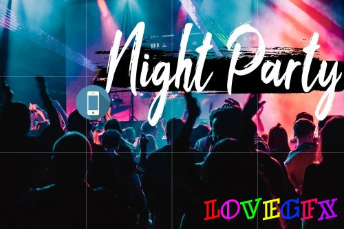 Neo Night Party Theme mobile lightroom presets - 266095