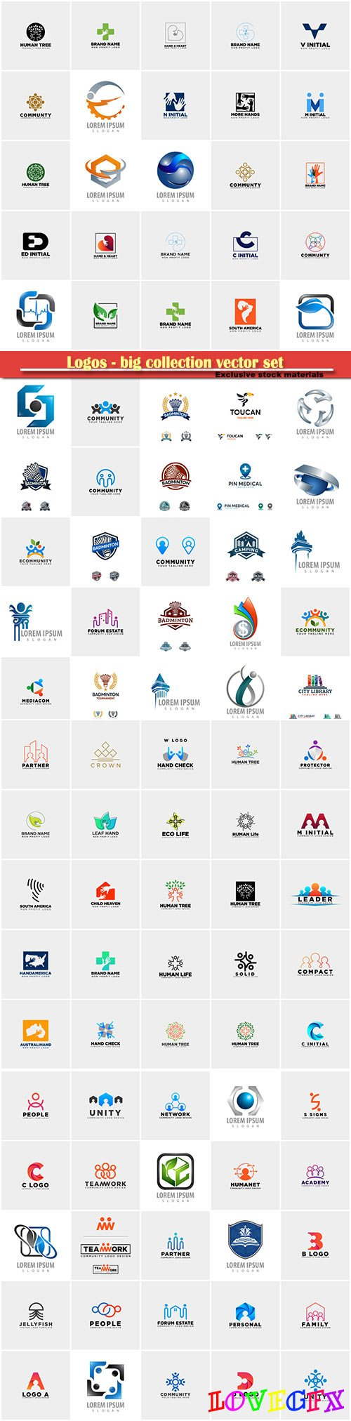 Logos - big collection vector set # 5