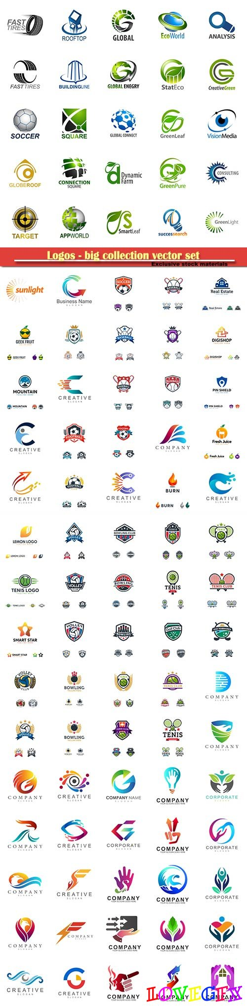 Logos - big collection vector set