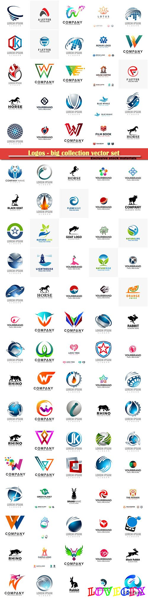 Logos - big collection vector set # 4