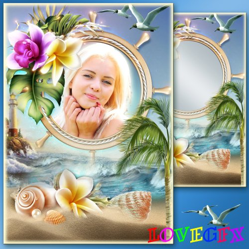 Frame for Photoshop - We go to the sea, we will see the sea soon