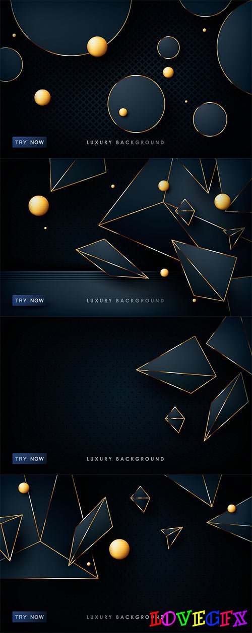 Dark blue abstract backgrounds in vector
