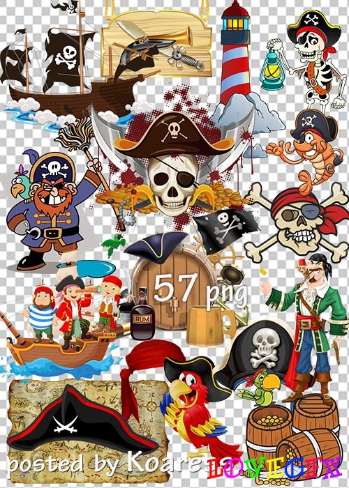 Clipart PNG - Pirates