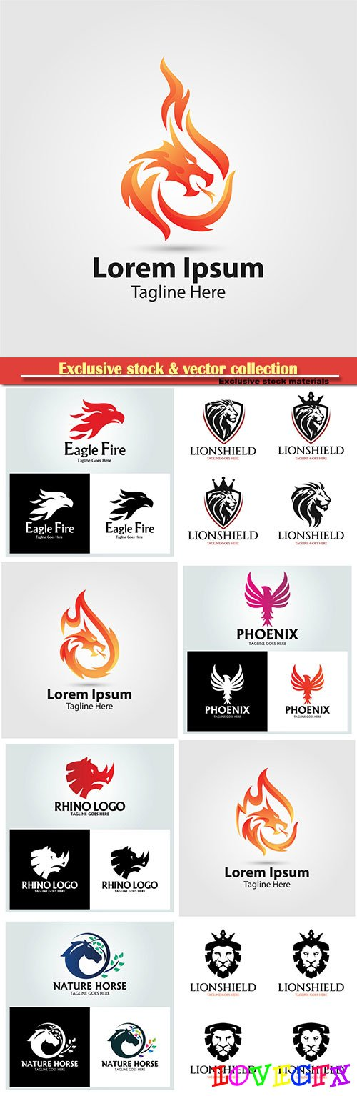 Logo vector template business set # 58