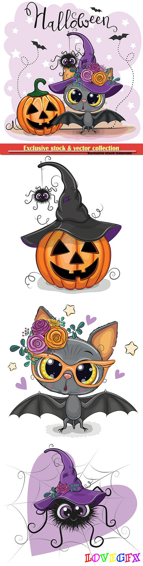 Halloween illustrations and design vector elements