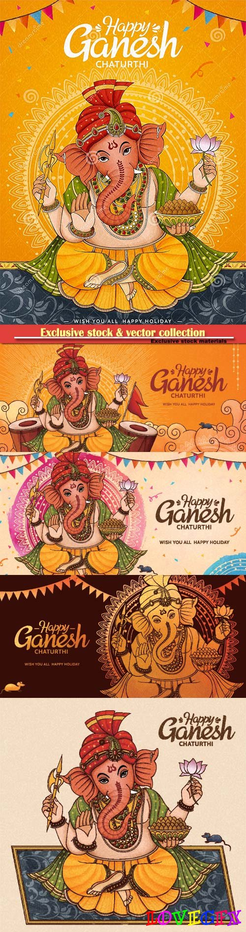 Happy Ganesh Chaturthi poster design