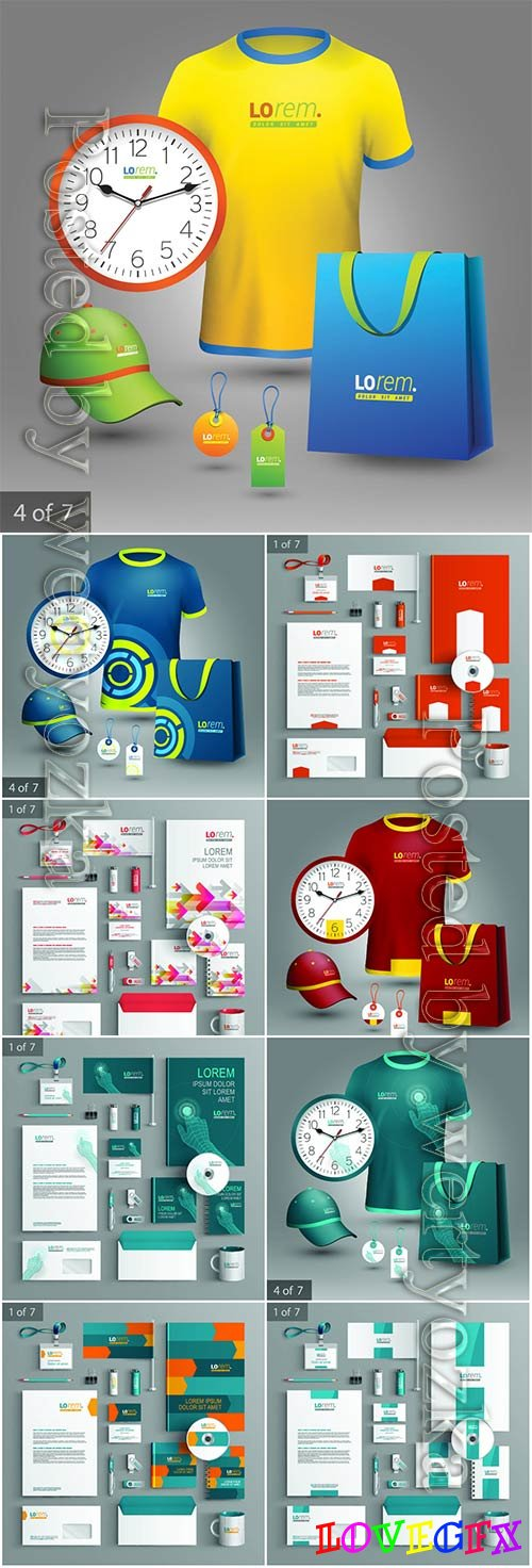 Corporate identity template and promotional gifts # 3