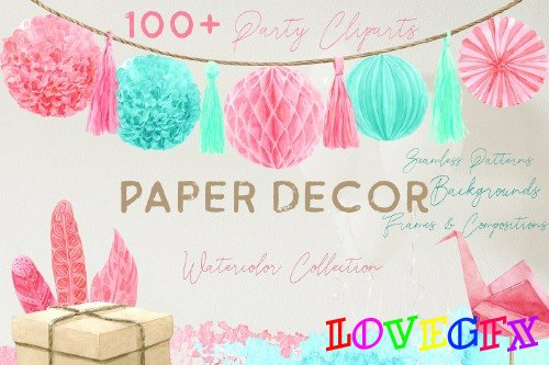 Paper Decor Watercolor Collection - 3788034