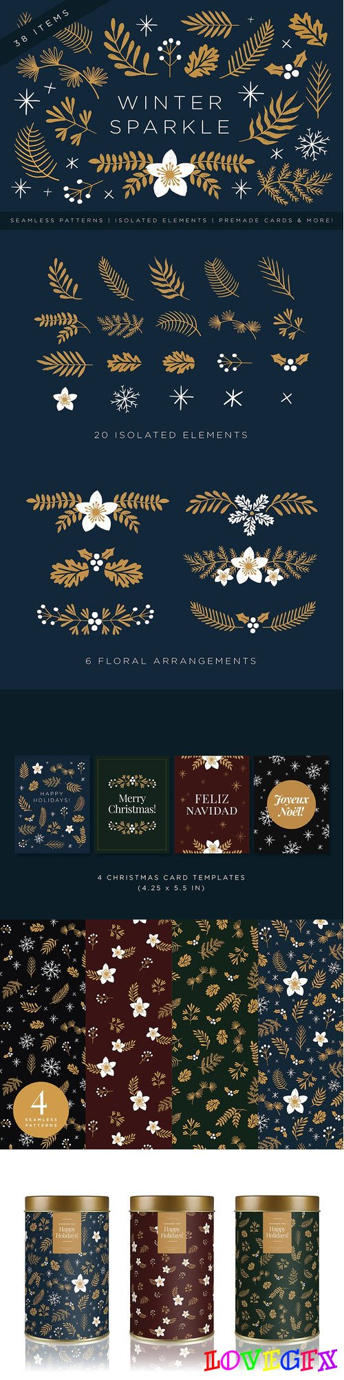 Elegant Christmas Graphic Set 2020297