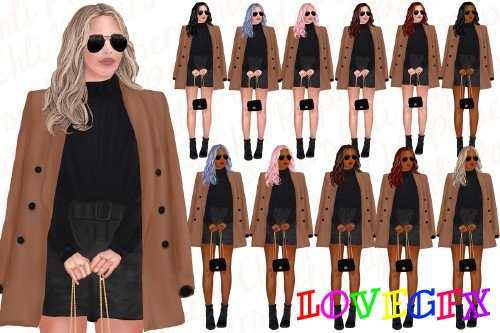 Fashion Girls Clipart, Fab girls - 4441104