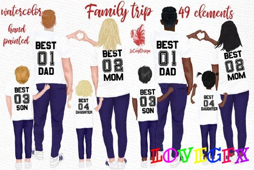 Family clip art Parents and Kids - 4443123