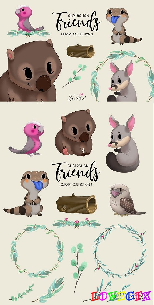 Australian Friends Clipart Collection 03