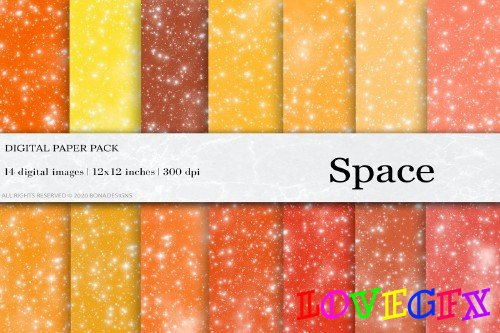 Space Galaxy Digital Papers - 4456537