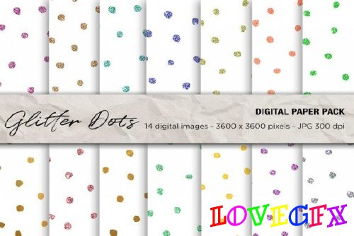 Glitter Dots Digital Papers - 2463869