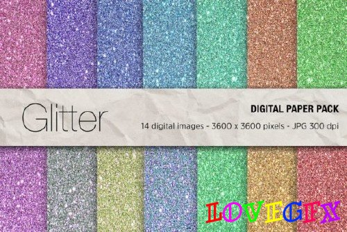 Glitter Digital Papers - 2463866