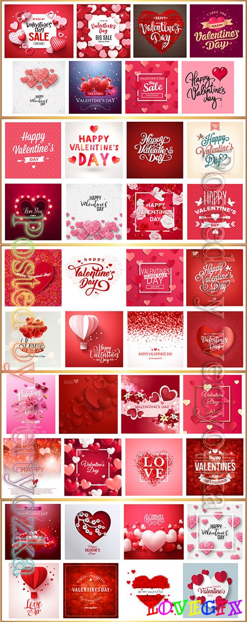 Happy Valentine's day vintage vector background