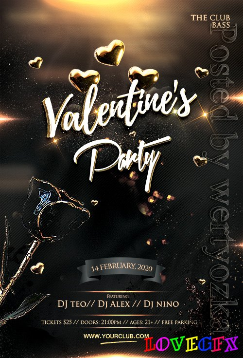 Valentine's Celebration Party - Premium flyer psd template