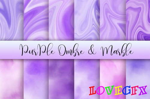 Purple Ombre and Marble Background