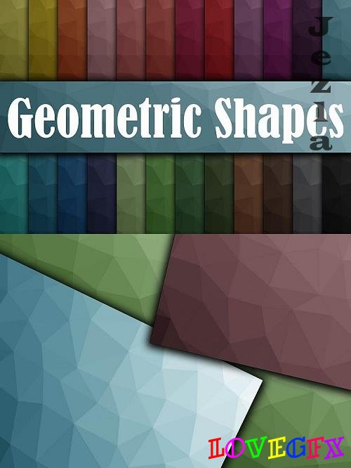 Geometric Shapes Digital Paper - 520546