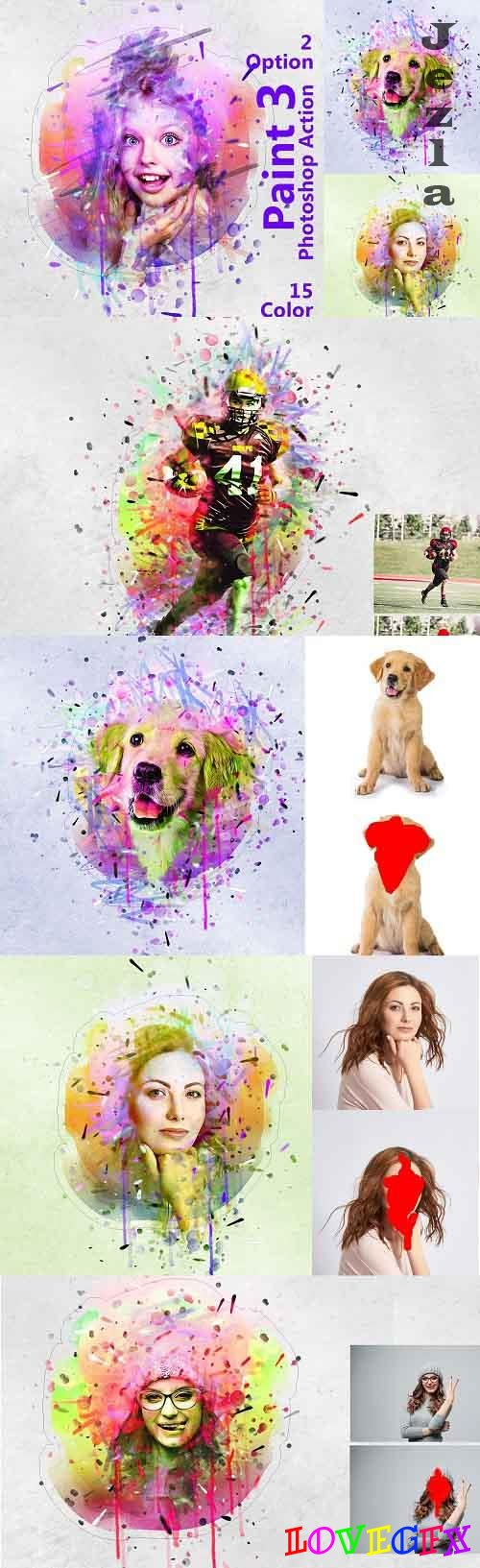 Paint Photoshop Action 5249577