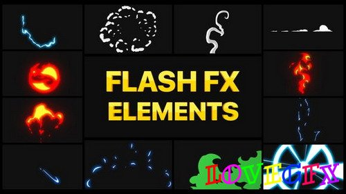 Flash FX Elements Pack 02 30173038 - DaVinci Resolve Project (Videohive)