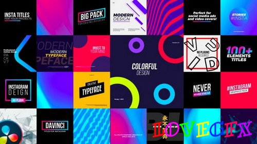 Instagram Elements Pack 30089849 - DaVinci Resolve Project (Videohive)