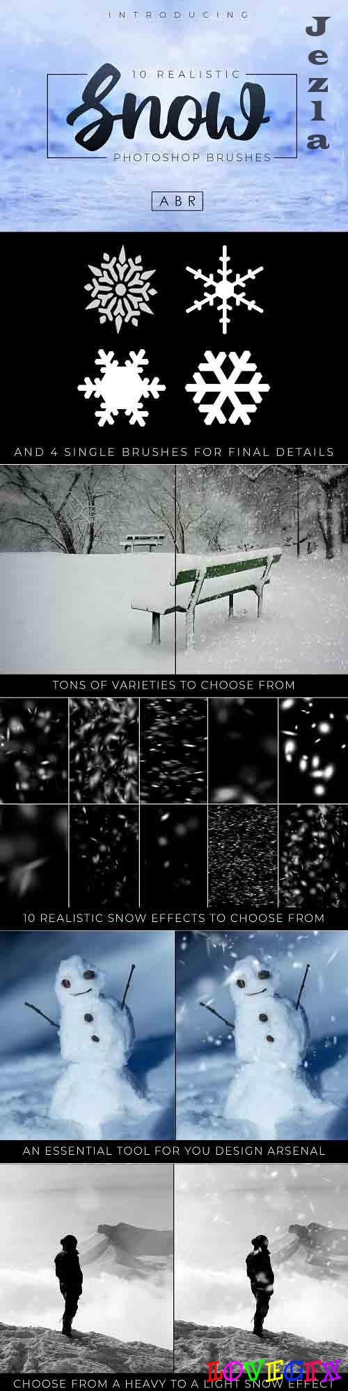 10 Realistic Photoshop Snow Brushes - 4193969